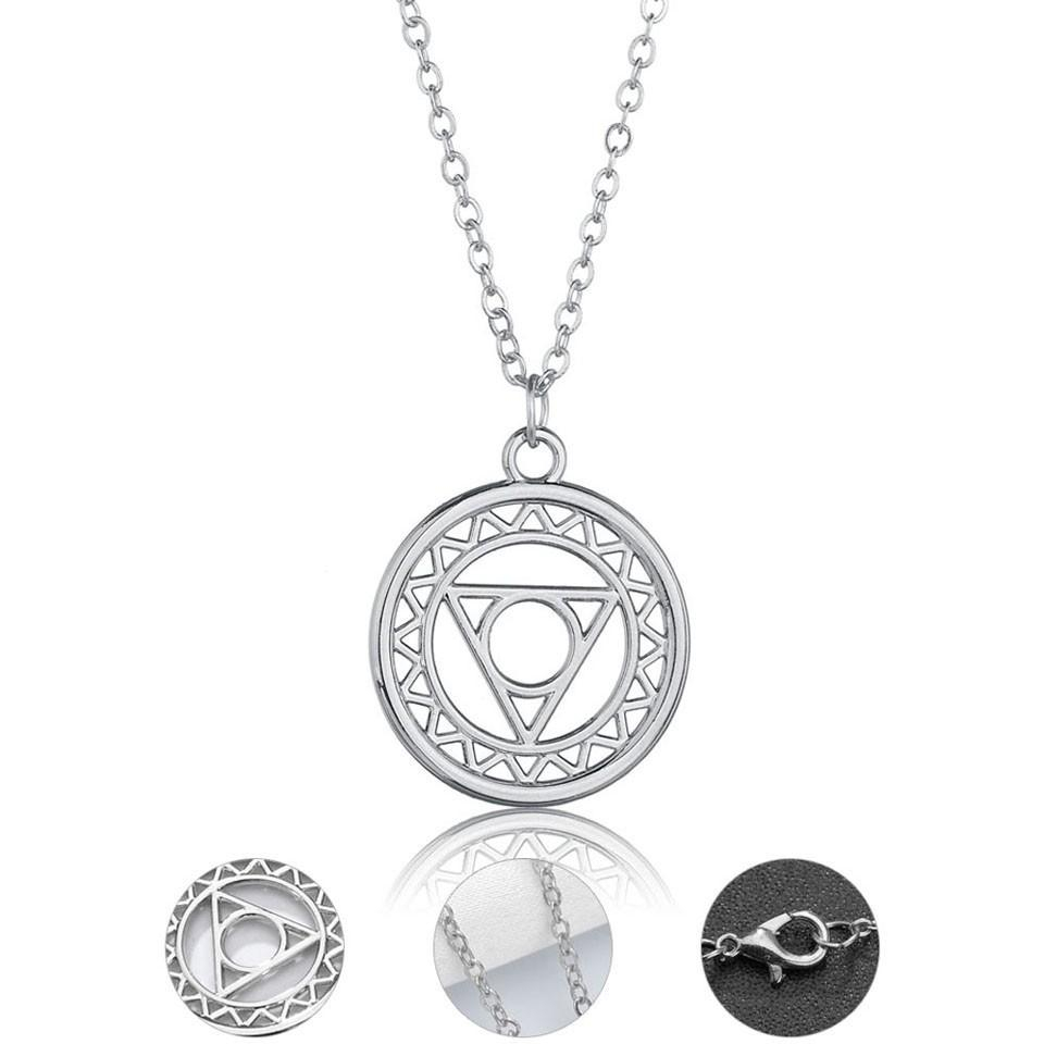 Women Fashion Pendant Necklace Geometric Round And Triangle Elements Gold  Charm Handmade European Style Wedding Jewelry Female Regarding Most Recent Letter A Alphabet Locket Element Necklaces (View 23 of 25)