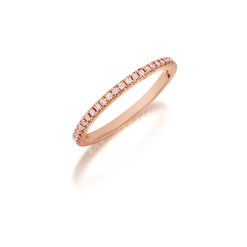 Women's Designer Wedding Bands & Diamond Wedding Bands Pertaining To Latest Certified Diamond Anniversary Bands In Rose Gold (View 25 of 25)