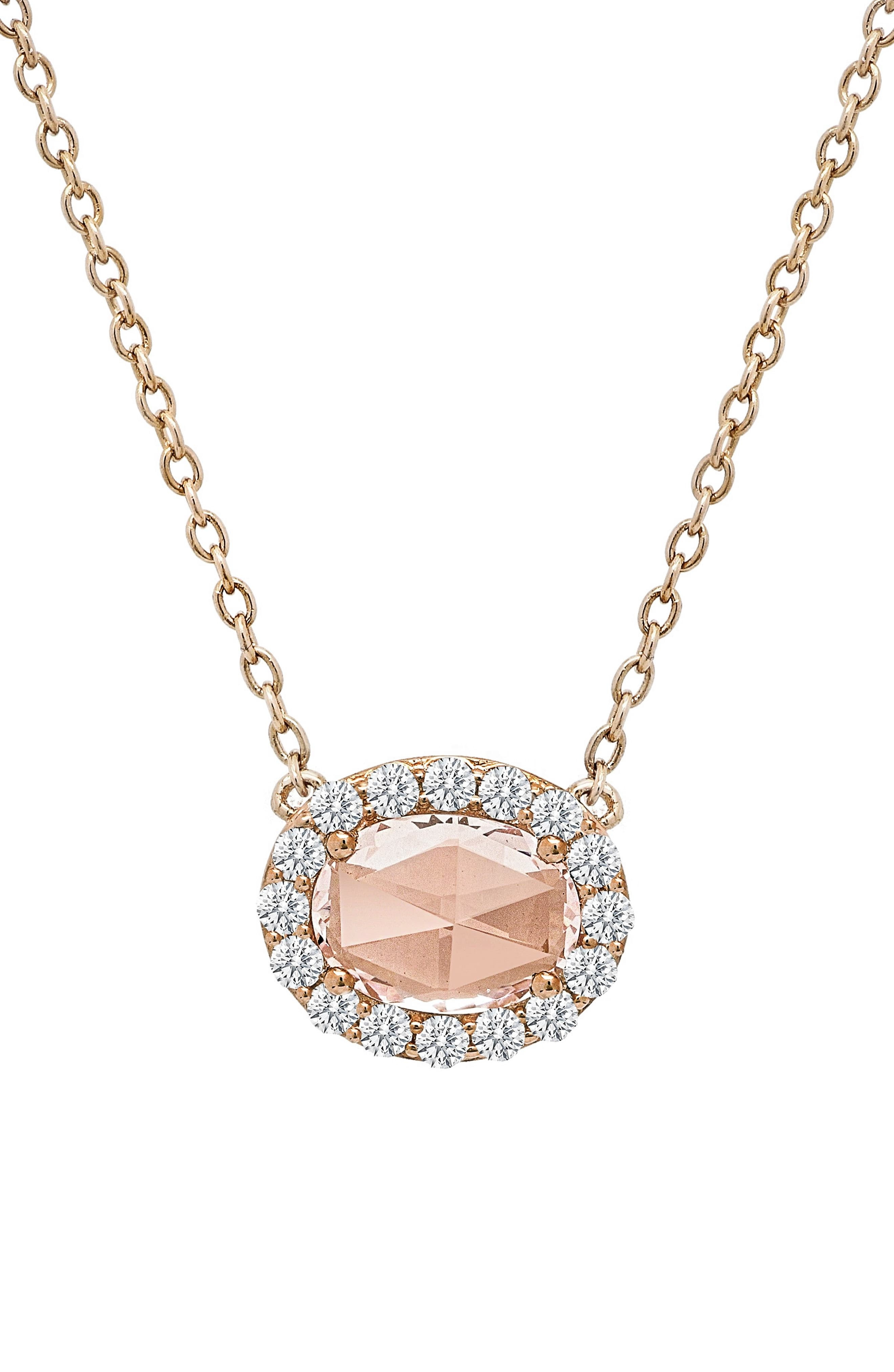 Women's Lafonn Simulated Diamond Halo Pendant Necklace | Products In With Regard To Recent Oval Sparkle Halo Pendant Necklaces (View 25 of 25)
