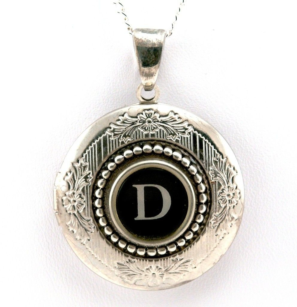 Women's Locket – Initial Letter D | Monogram | Letter D, Initial With Regard To Most Recent Letter S Alphabet Locket Element Necklaces (View 25 of 25)