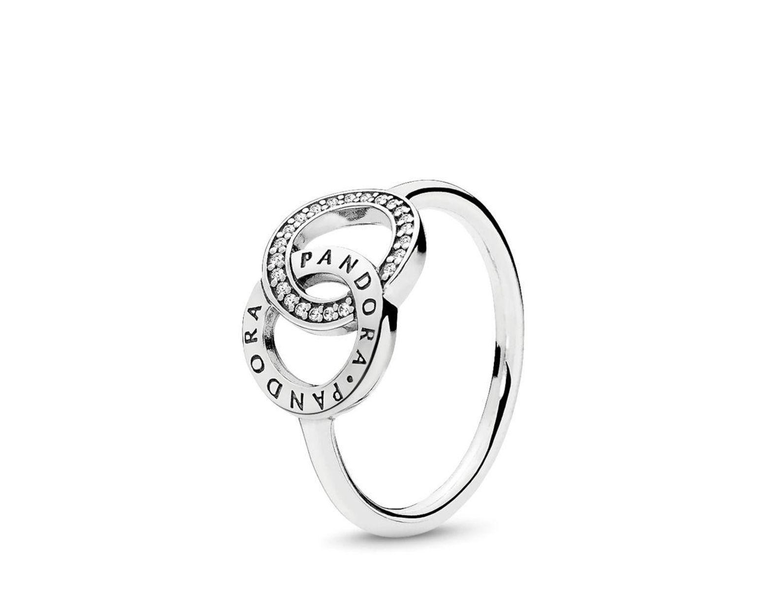 Women's Metallic Circles Ring Throughout Most Recent Entwined Circles Pandora Logo & Sparkle Rings (View 3 of 25)
