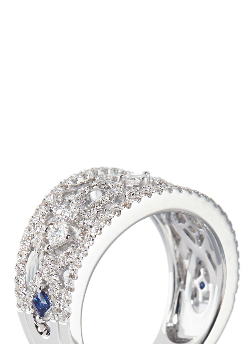 Women's Metallic Diamond Anniversary Band Pertaining To Most Recently Released Vera Wang Love Collection Diamond Two Row Anniversary Bands In White Gold (View 17 of 25)