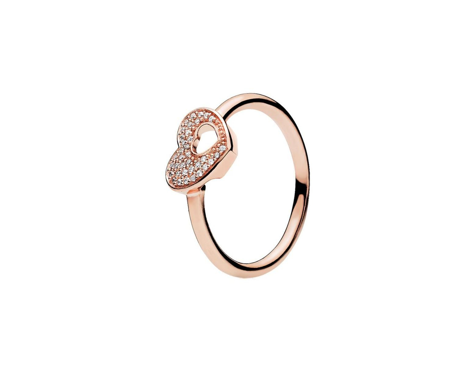 Women's Metallic Rose? Cz Shimmering Puzzle Heart Frame Ring In 2018 Shimmering Zigzag Rings (Gallery 24 of 25)