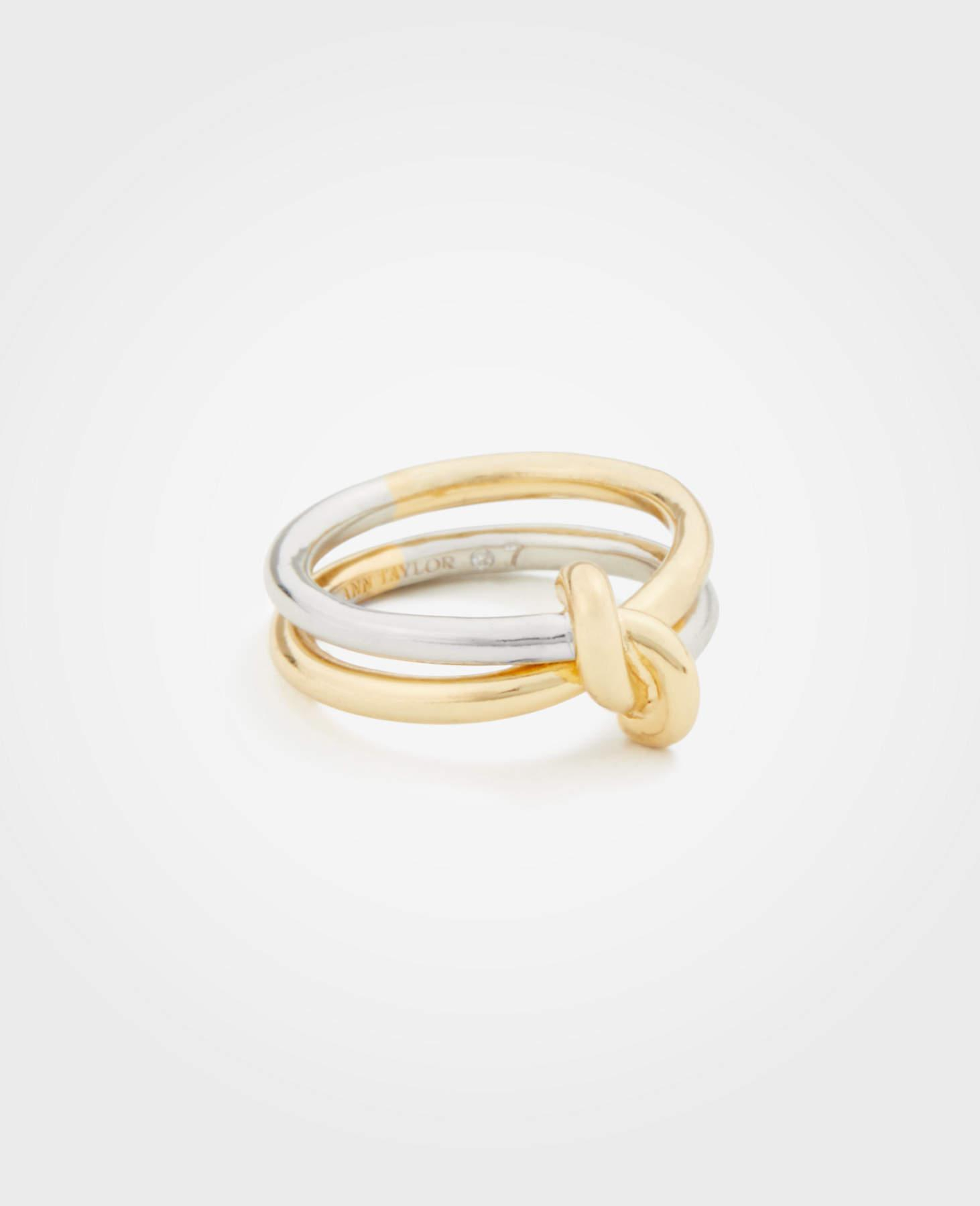 Women's Metallic Twisted Knot Ring Regarding Most Popular Shimmering Knot Rings (View 18 of 25)