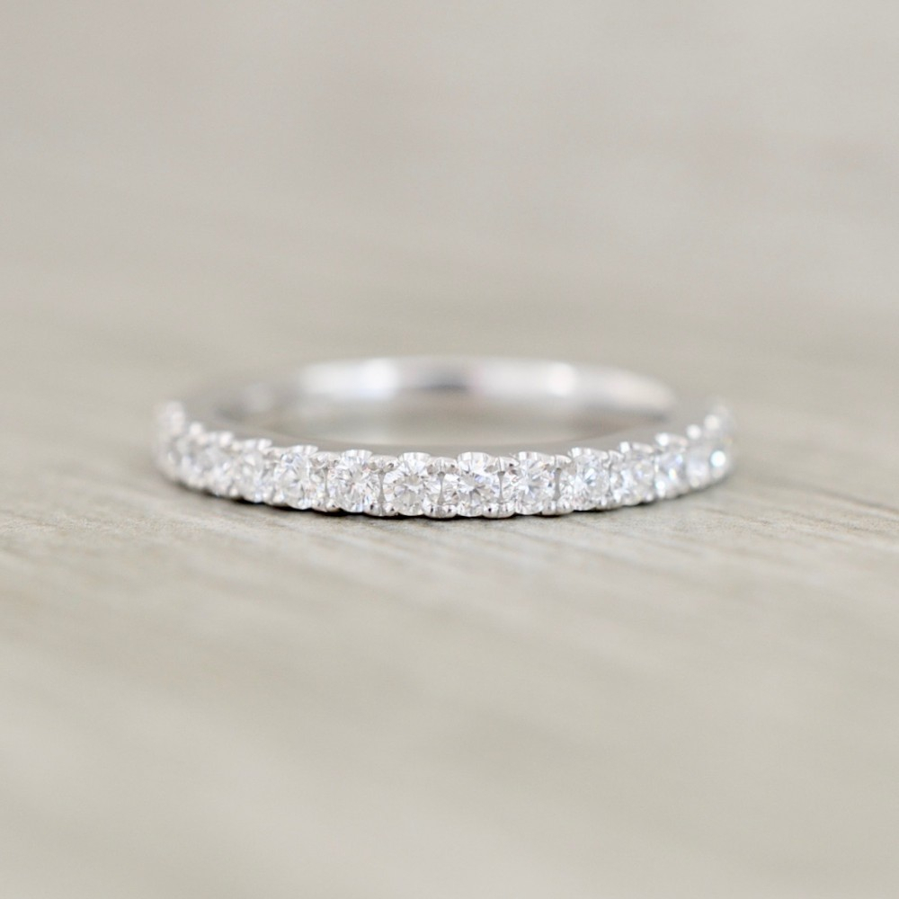 Women's Wedding Bands Inside 2019 Diamond Channel Set Anniversary Bands In White Gold (View 24 of 24)