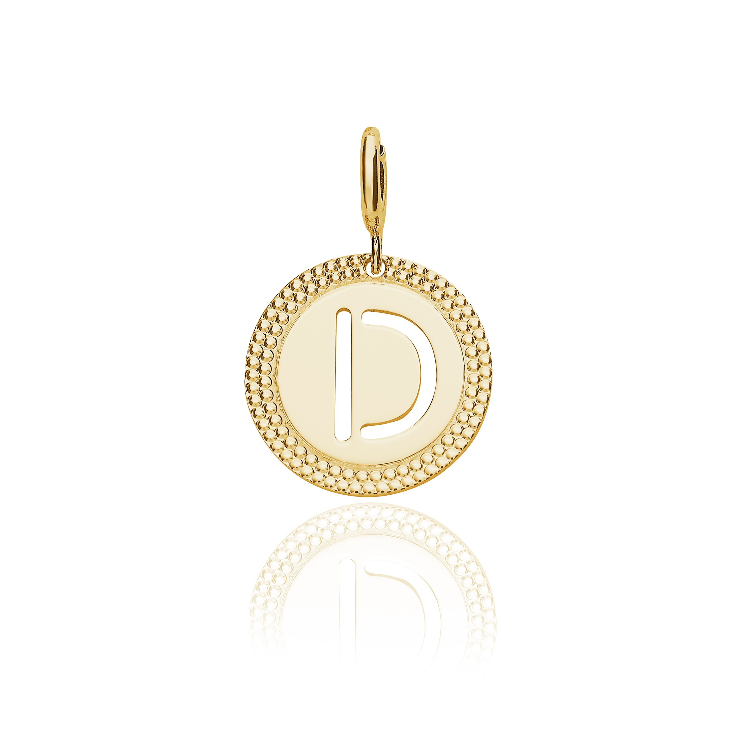 "Yellow Gold Alphabet Pendant Letter ""d"" Regarding Newest Letter F Alphabet Locket Element Necklaces (View 25 of 25)"