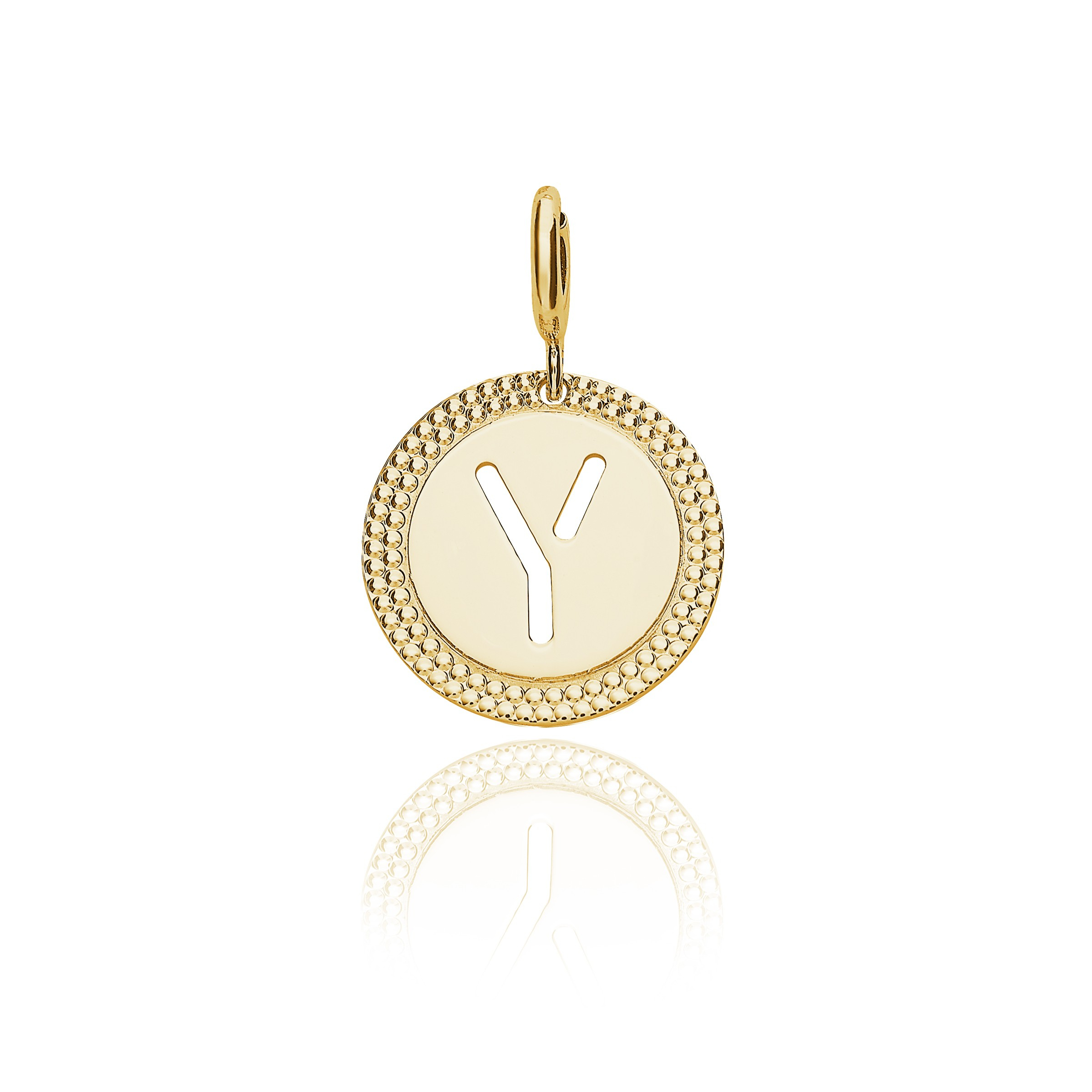 "Yellow Gold Alphabet Pendant Letter ""y"" In Most Recent Letter Y Alphabet Locket Element Necklaces (Gallery 1 of 25)"