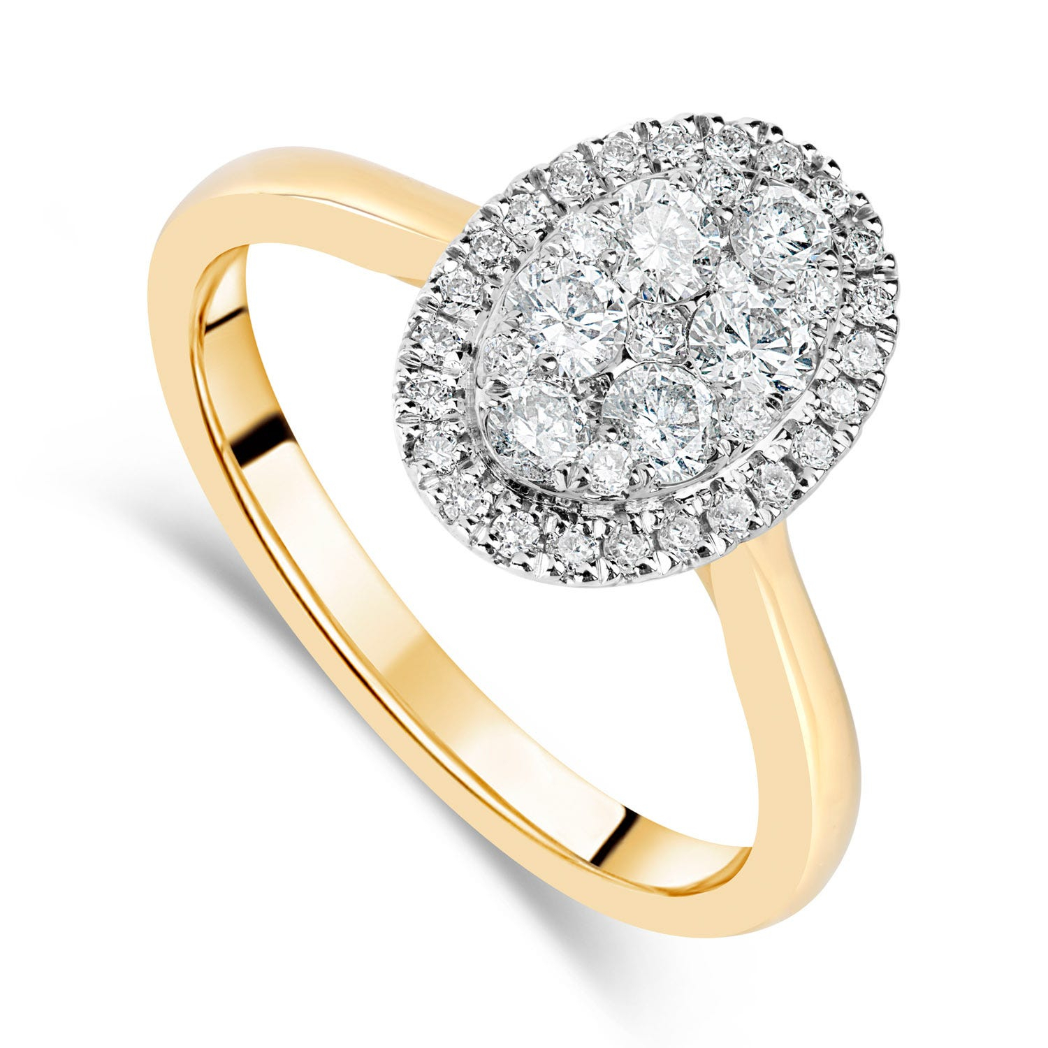 Yellow Gold Engagement Rings With Regard To 2019 Diamond Layered Anniversary Ring In White Gold (View 25 of 25)