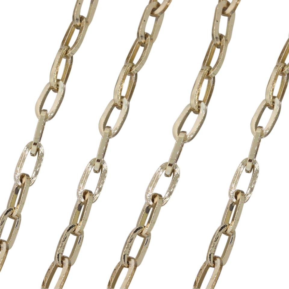 "Yellow Gold Modern 14K 3Mm Elongated Cable Chain Link 23"" (View 7 of 25)"