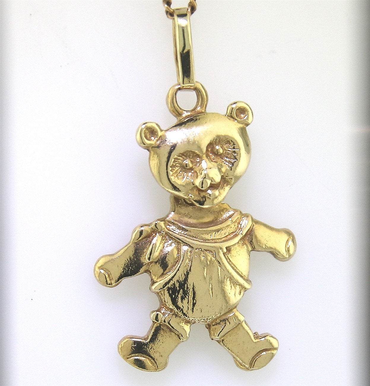 "Yellow Gold ""moveable Teddy Bear Pendant"" Guaranteed Genuine 9k Gold Regarding Latest Theodore Bear Pendant Necklaces (View 4 of 25)"