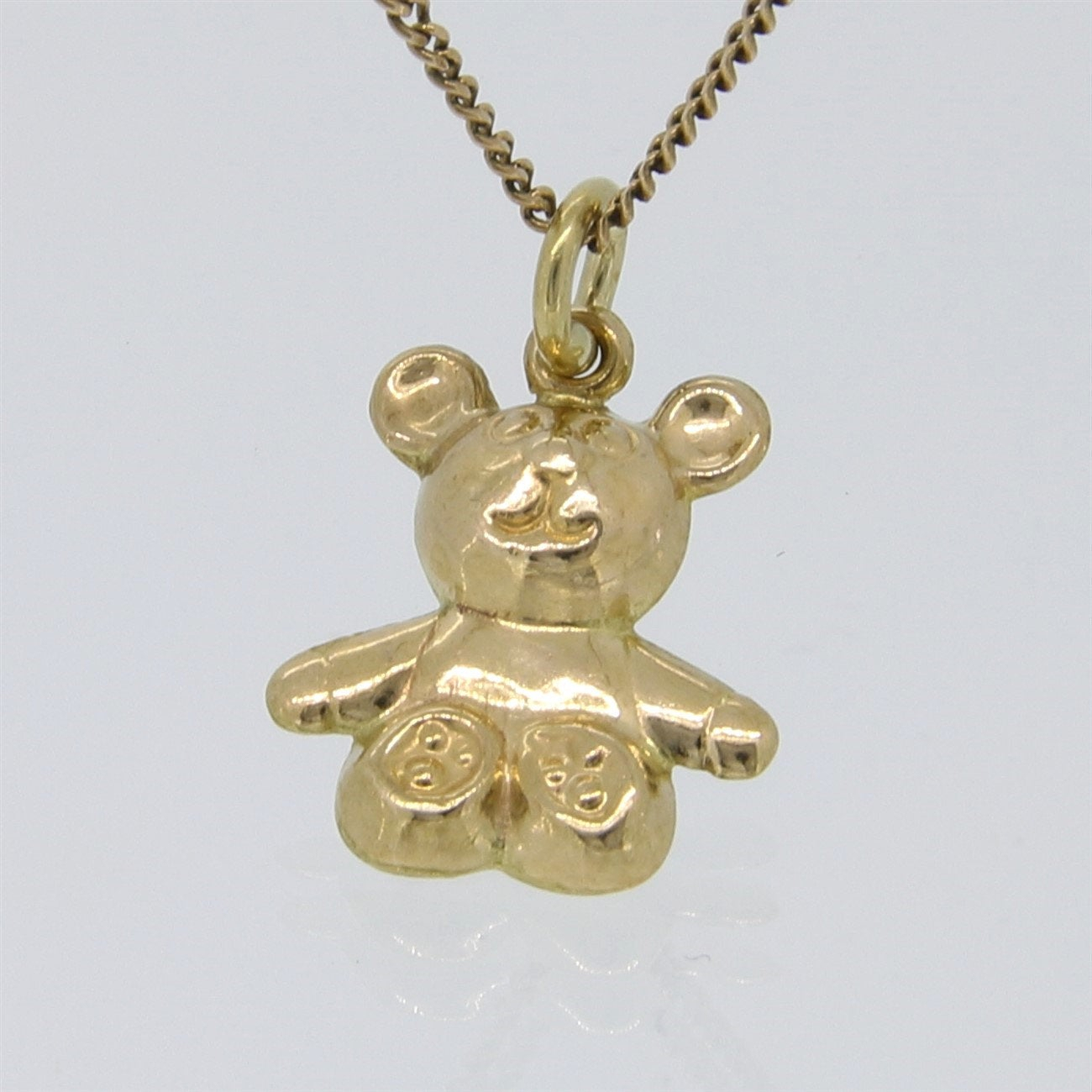 Yellow Gold ~ Teddy Bear Charm ~ Genuine 9K / 9Ct Gold Inside Most Recent Theodore Bear Pendant Necklaces (Gallery 6 of 25)