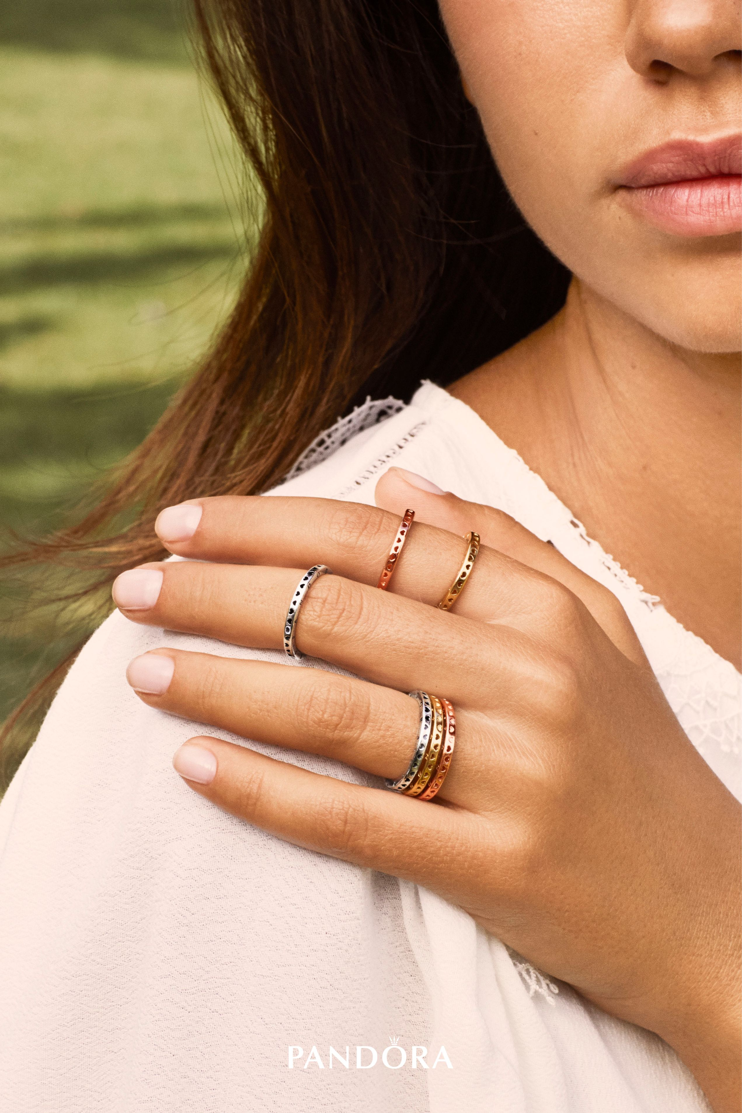 Your Style Is Your Signature. Curate It Or Complete It With The New Within 2017 Hearts & Pandora Logo Rings (Gallery 15 of 25)