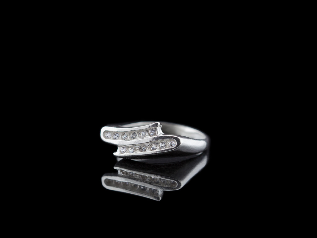 Zig Zag | Sterling Silver With 12 White Sapphires Inside Latest Polished Zigzag Rings (Gallery 25 of 25)