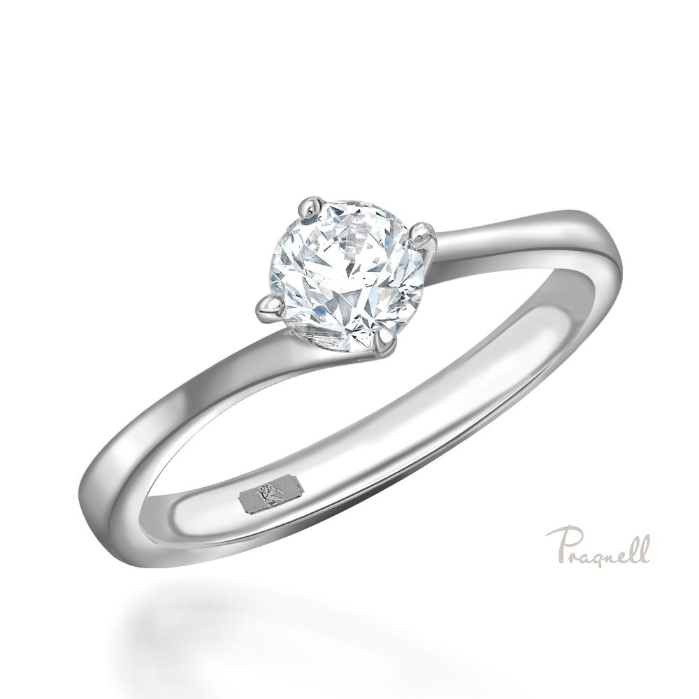 0.30Ct Brilliant Cut Diamond Twist Solitaire In Platinum For Brilliant Love Diamond Engagement Rings (Gallery 12 of 25)