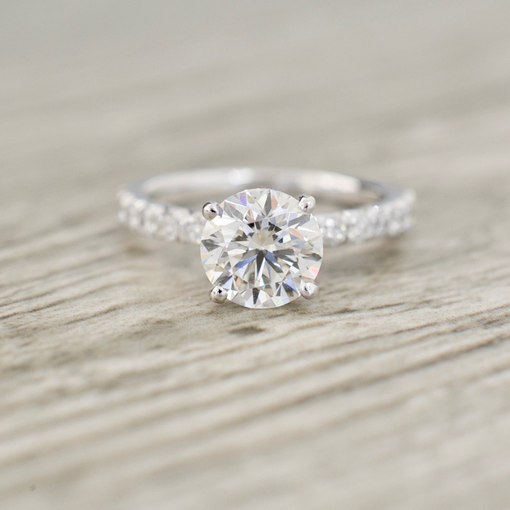 Featured Photo of Round Brilliant Diamond Micropavé Engagement Rings