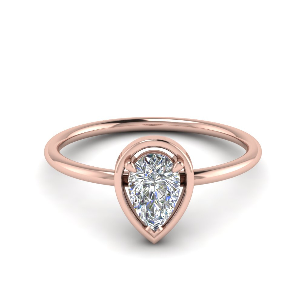 1 Carat Pear Shaped Thin Diamond Ring With Regard To Pear Shaped Engagement Rings (View 1 of 25)