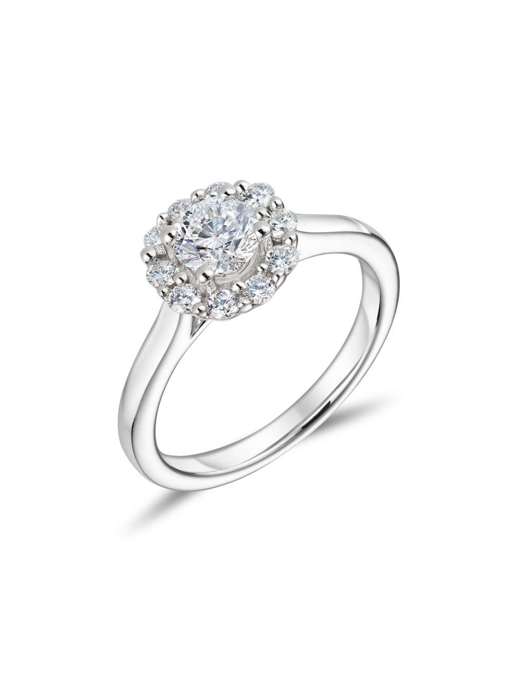 18Ct Round Brilliant Cut Diamond Engagement Ring Throughout Round Brilliant Diamond Engagement Rings (View 4 of 25)