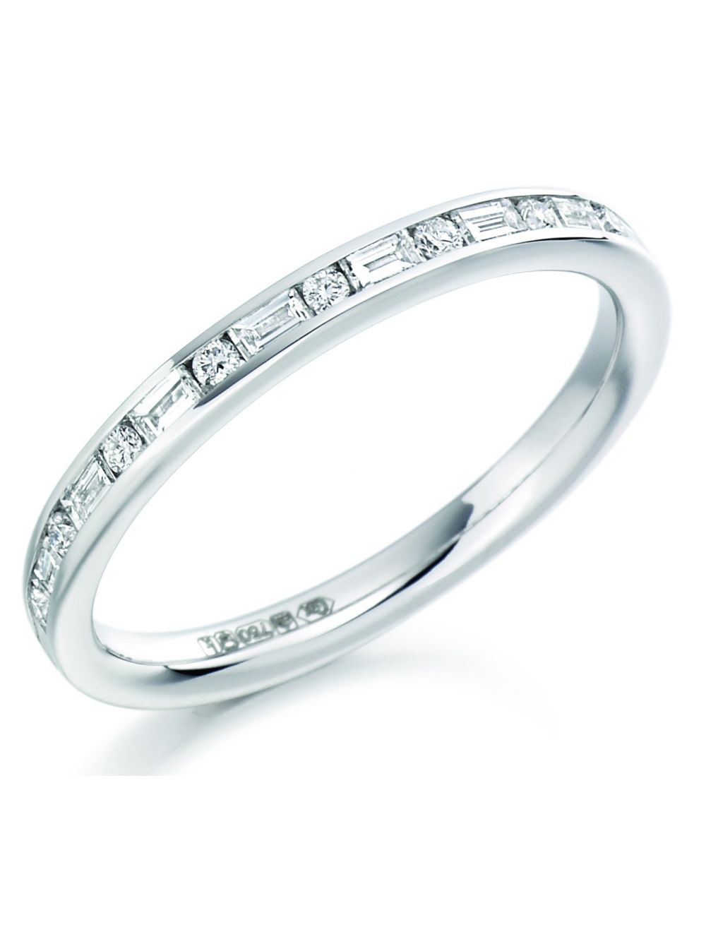 Featured Photo of Channel Set Round Brilliant And Baguette Cut Diamond Wedding Bands