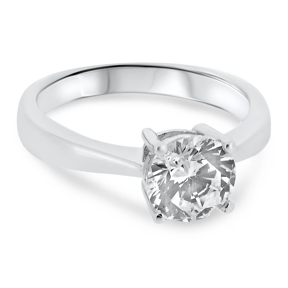 18ct White Gold Solitaire (View 12 of 25)