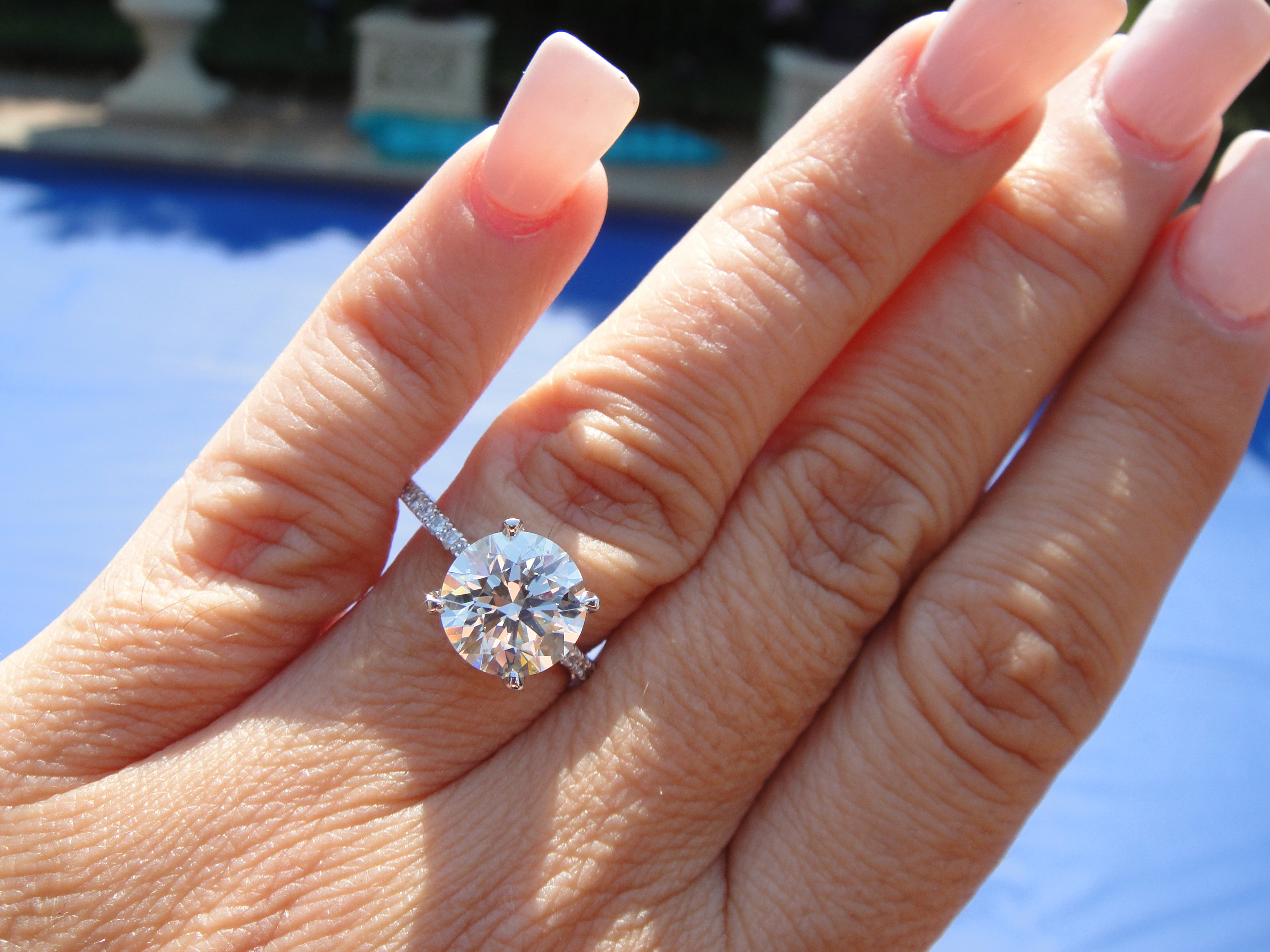 2.51 Carat Gia E Color Vs2 Certified Round Cut Diamond Engagement Ring Pertaining To Round Brilliant Diamond Engagement Rings (Gallery 2 of 25)
