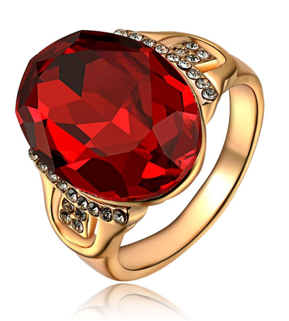 2019 Womens Alternative Oval Shape Styles Cut Red Zircon Engagement Wedding  Rose Gold Ruby Ring Pave Crystal Band From Q409927835, &price; | In Oval Shaped Ruby Micropavé Rings (Gallery 22 of 25)