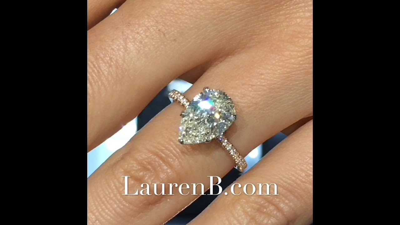 3 Carat Pear Shape Diamond Engagement Ring Within Tryst Pear Shaped Diamond Engagement Rings (View 18 of 25)