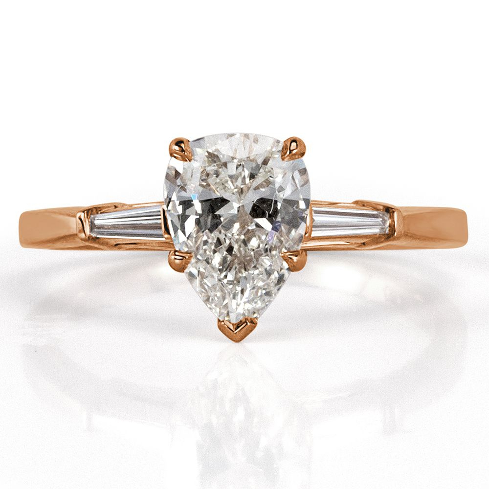 34 Pear Shaped Engagement Rings For Every Bride Regarding Tryst Pear Shaped Diamond Engagement Rings (View 13 of 25)