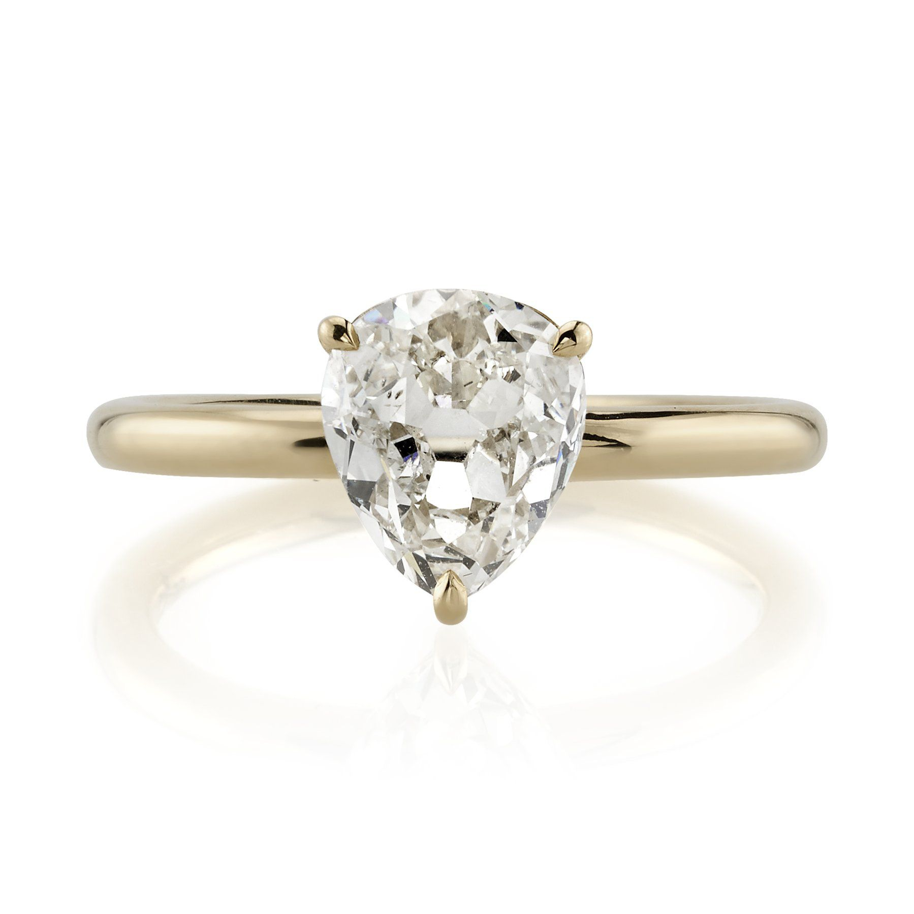 34 Pear Shaped Engagement Rings For Every Bride Regarding Tryst Pear Shaped Diamond Engagement Rings (View 6 of 25)