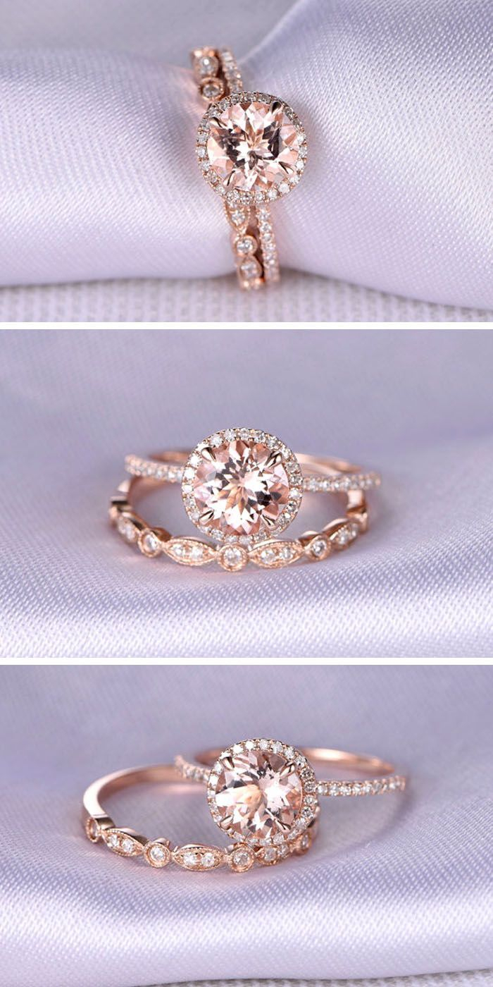 36 Rose Gold Engagement Rings That Melt Your Heart | One Day Pertaining To Recent Princess Cut Single Diamond Wedding Bands In Rose Gold (View 7 of 25)