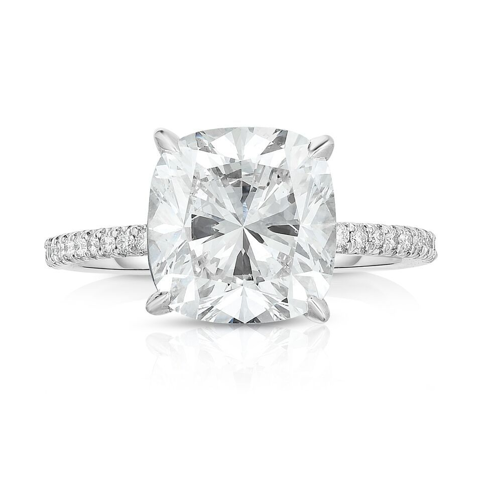 57 Exquisite Cushion Cut Engagement Rings With Regard To Cushion Cut Yellow Diamond Micropavé Rings (View 18 of 25)