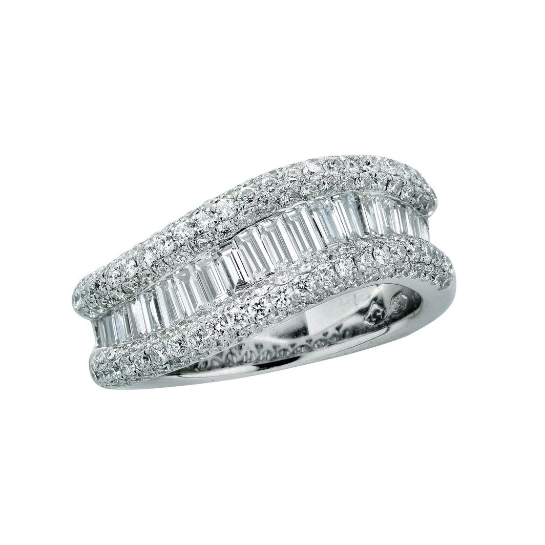 62 Extraordinary Baguette Wedding Bands For Every Style For Recent Channel Set Round Brilliant And Baguette Cut Diamond Wedding Bands (View 4 of 25)