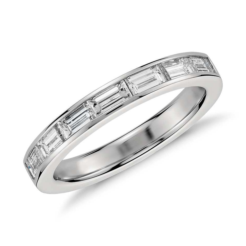 62 Extraordinary Baguette Wedding Bands For Every Style Pertaining To Current Channel Set Round Brilliant And Baguette Cut Diamond Wedding Bands (View 5 of 25)