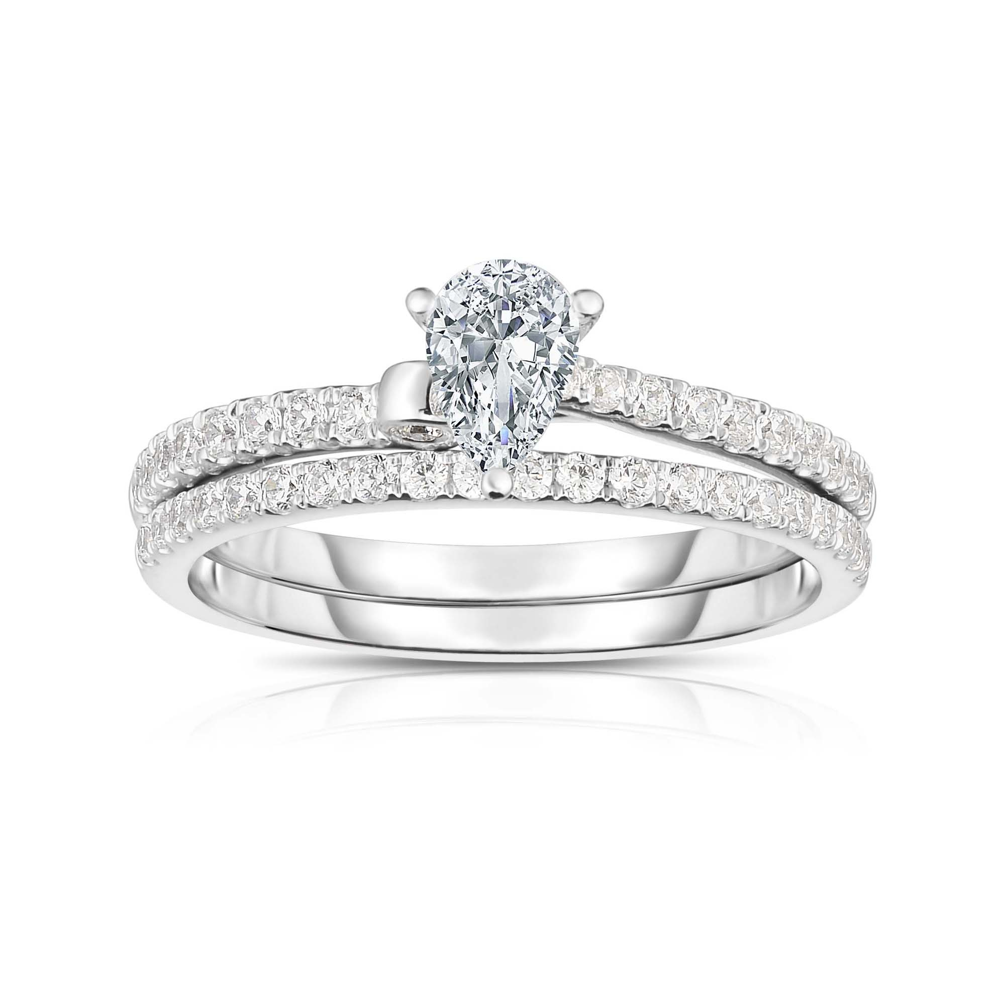 Adrianna Papell Pear Shaped Diamond Engagement Ring For Tryst Pear Shaped Diamond Engagement Rings (View 8 of 25)