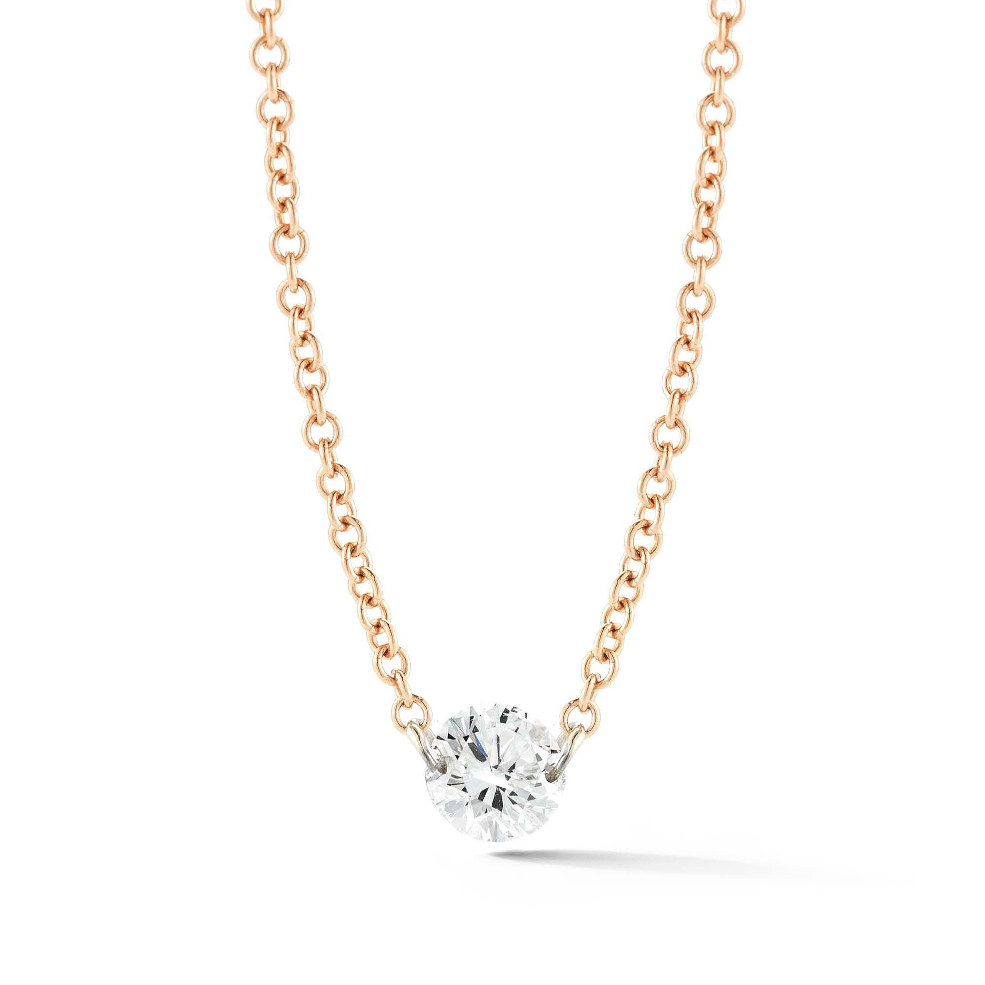 Aero Diamonds Solo Medium 18k Centered Diamond Necklace Pertaining To 2019 Medium Diamond Necklaces (View 5 of 25)