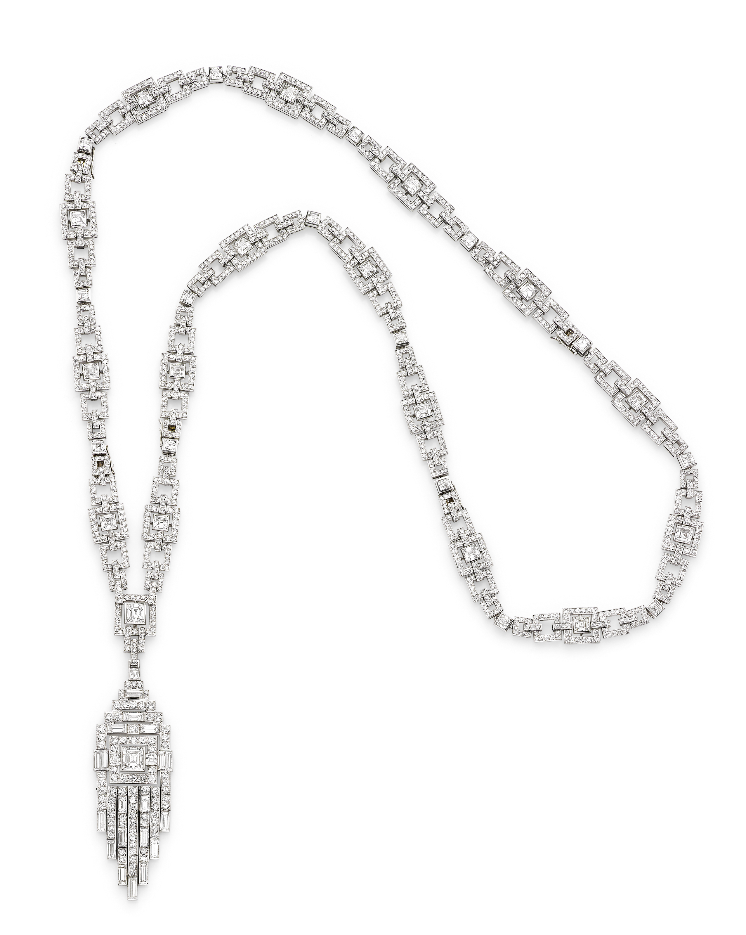 Featured Photo of Diamond Sautoir Necklaces In Platinum