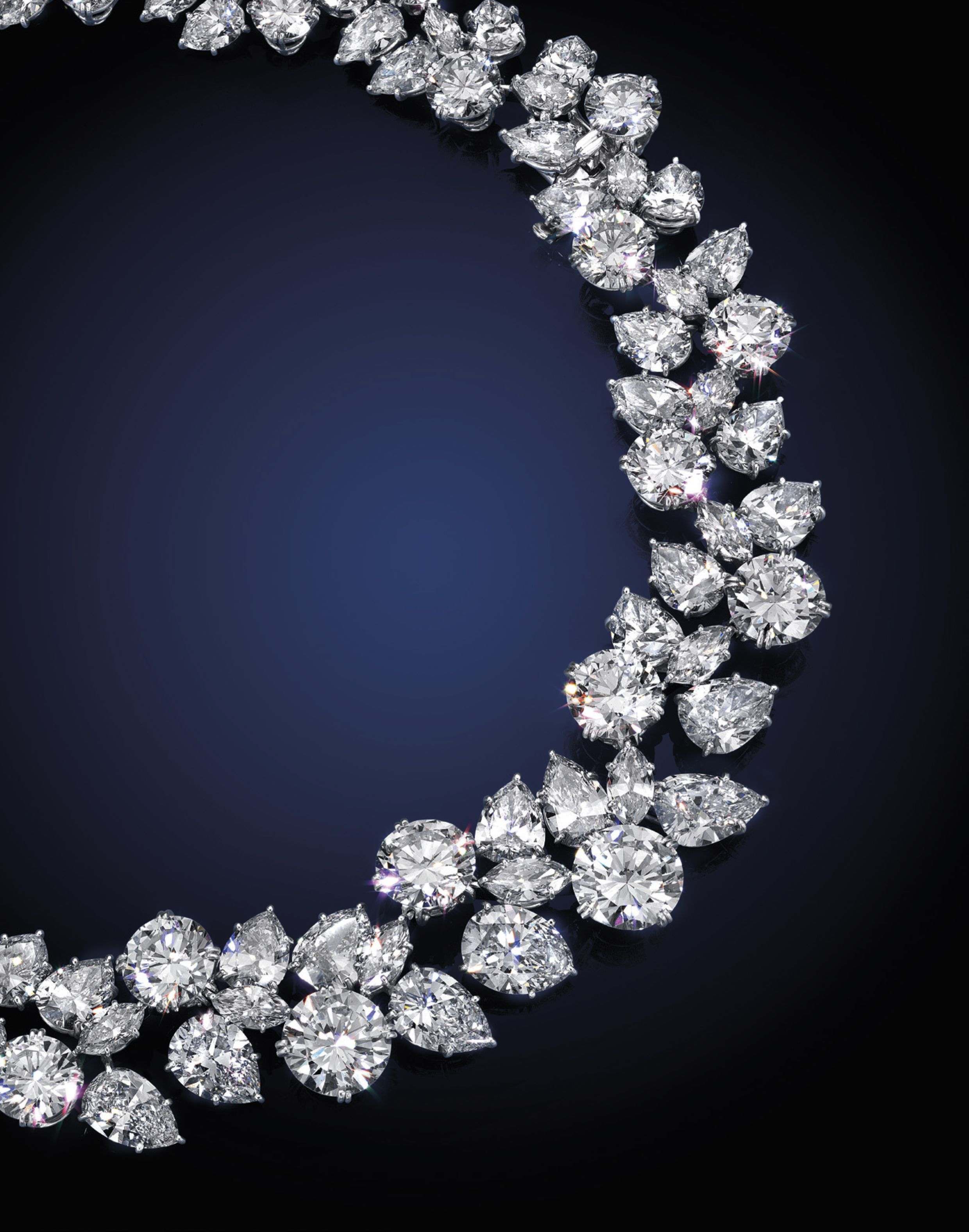An Exquisite Diamond Cluster Wreath Necklace,harry Regarding Most Recent Diamond Wreath Necklaces (View 8 of 25)