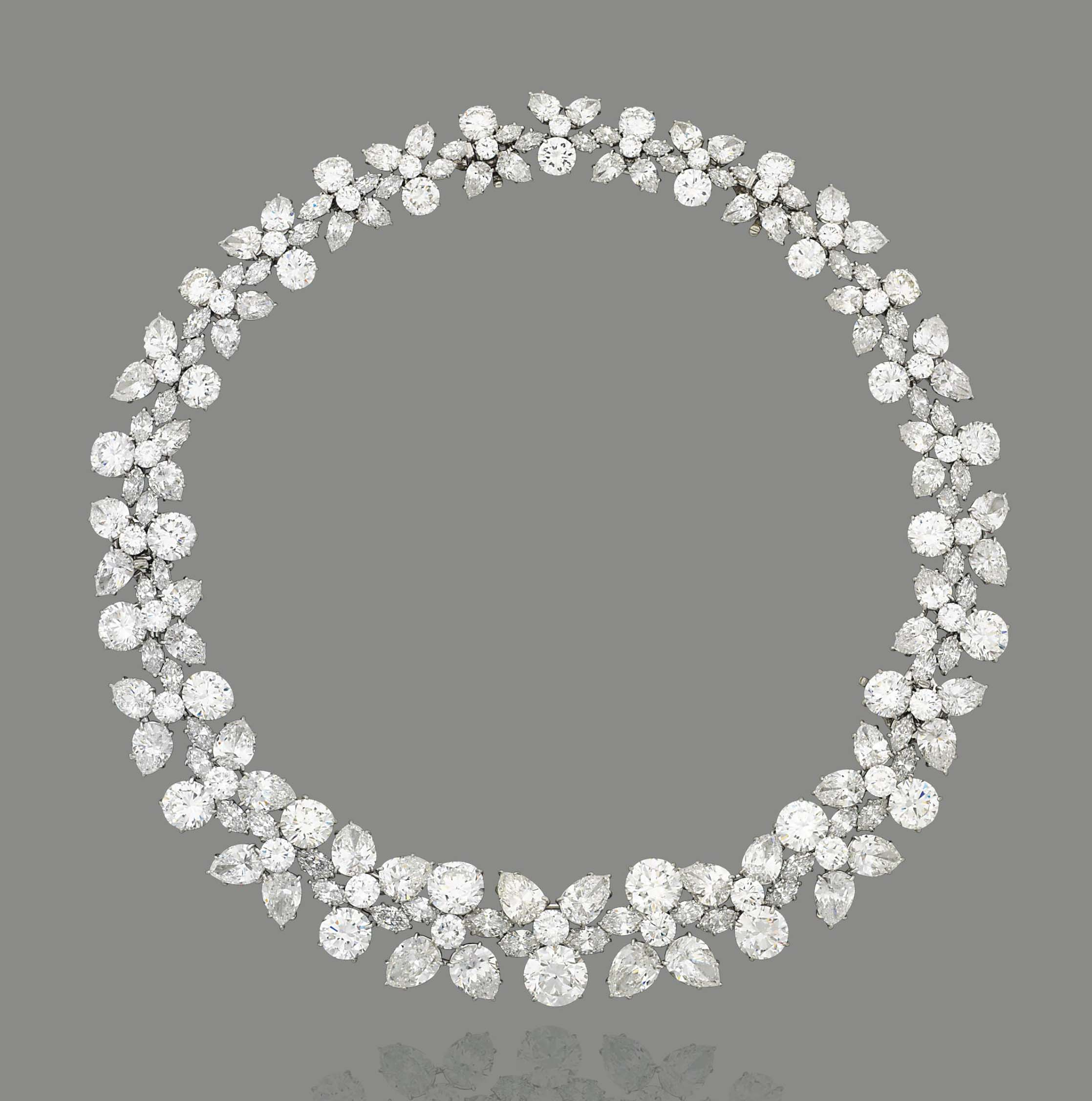 An Important Diamond 'holly Wreath' Necklace,harry Intended For Current Diamond Wreath Necklaces (View 7 of 25)