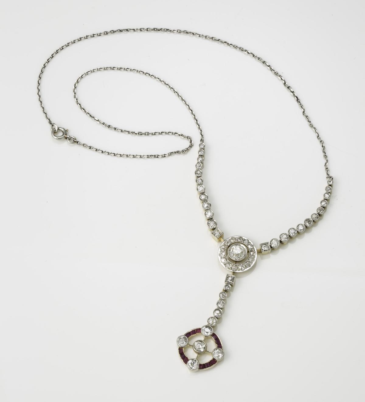 Antique Diamond Rub Lariat Necklae Throughout Recent Lariat Diamond Necklaces (View 7 of 25)