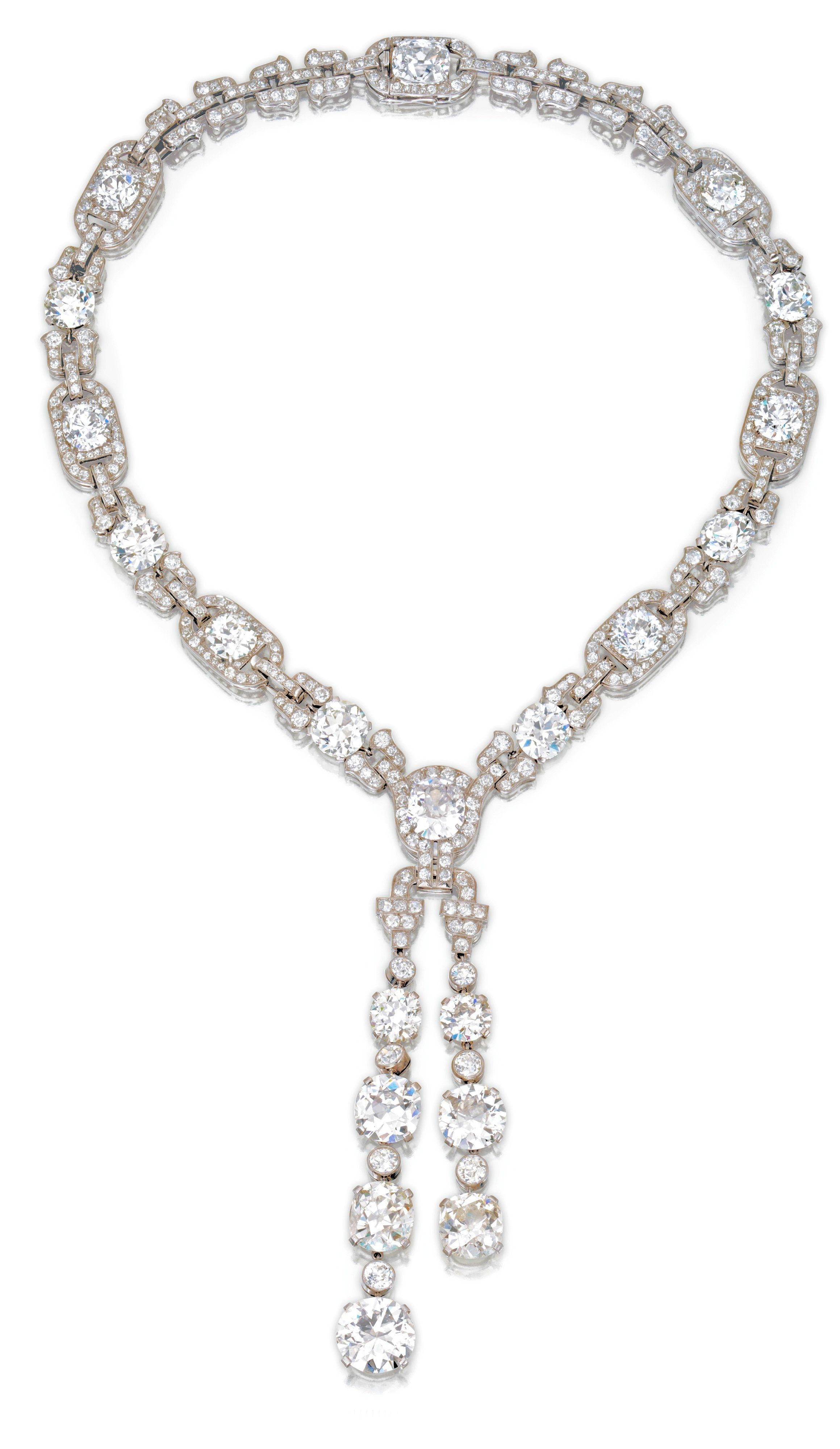 Art Deco Cartier Sautoir – 1924 – Platinum And Diamond With Most Current Diamond Sautoir Necklaces In Platinum (View 9 of 25)