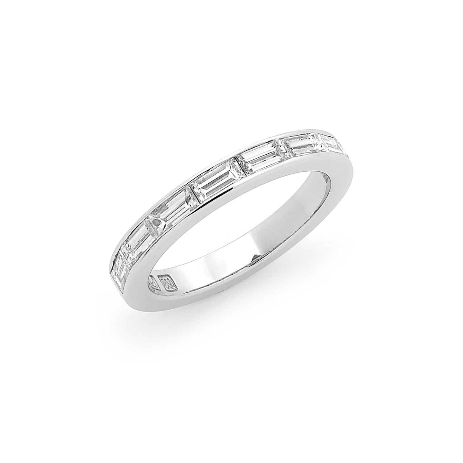 Baguette Cut Diamond Wedding Band – Fairfax & Roberts For Best And Newest Channel Set Round Brilliant And Baguette Cut Diamond Wedding Bands (View 8 of 25)
