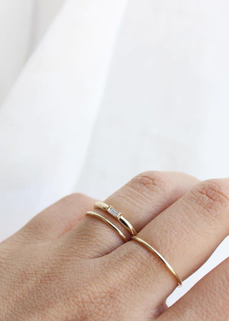Baguette Diamond Ring | Essentials In 2019 | Baguette In Latest Baguette Cut Single Diamond Wedding Bands (View 6 of 25)