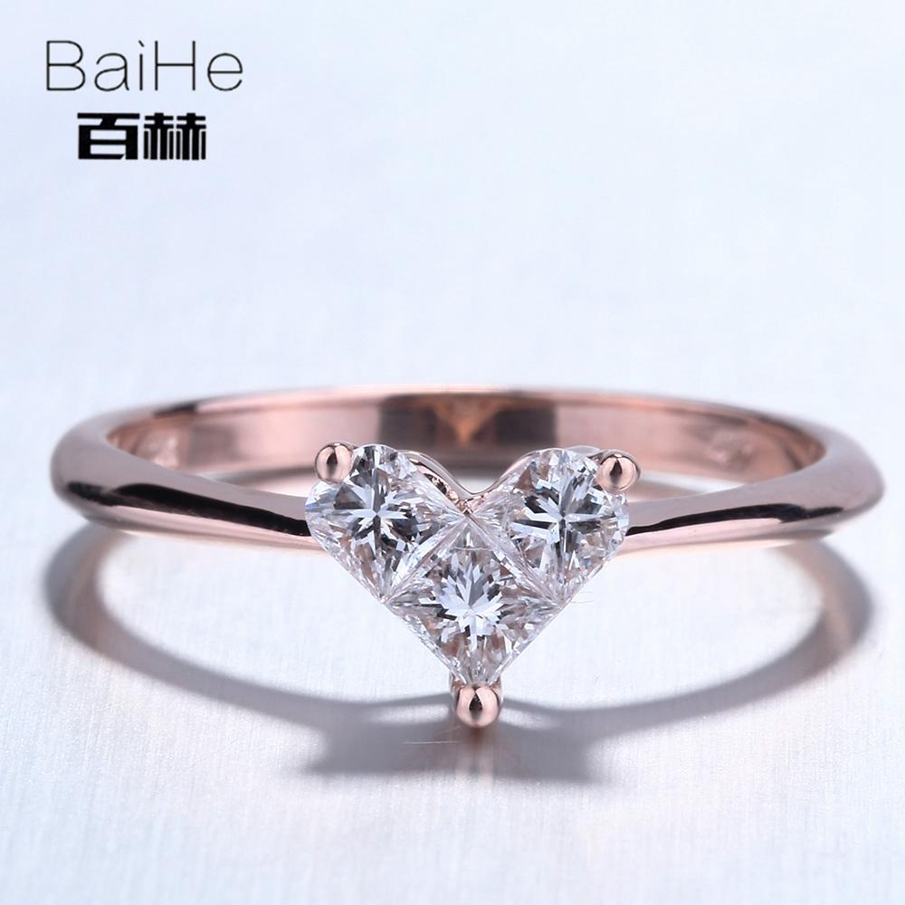 Baihe Solid 14K Rose Goldau (View 9 of 25)