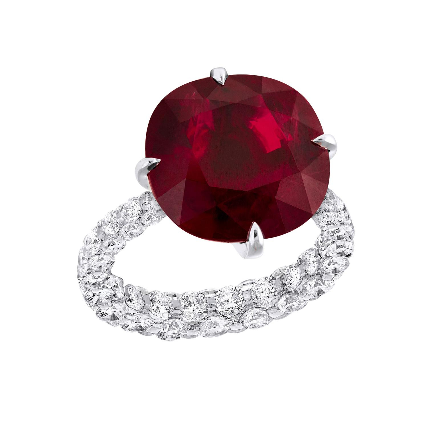 Boghossian Les Merveilles Cushion Cut Ruby Ring Regarding Cushion Cut Ruby Rings (View 13 of 25)