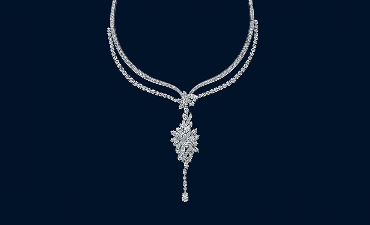 Brief: Harry Winston's New High Jewelry Collection | Sparkle For Current Reversible Diamond, Sapphire And Aquamarine Pendant Necklaces (View 21 of 25)