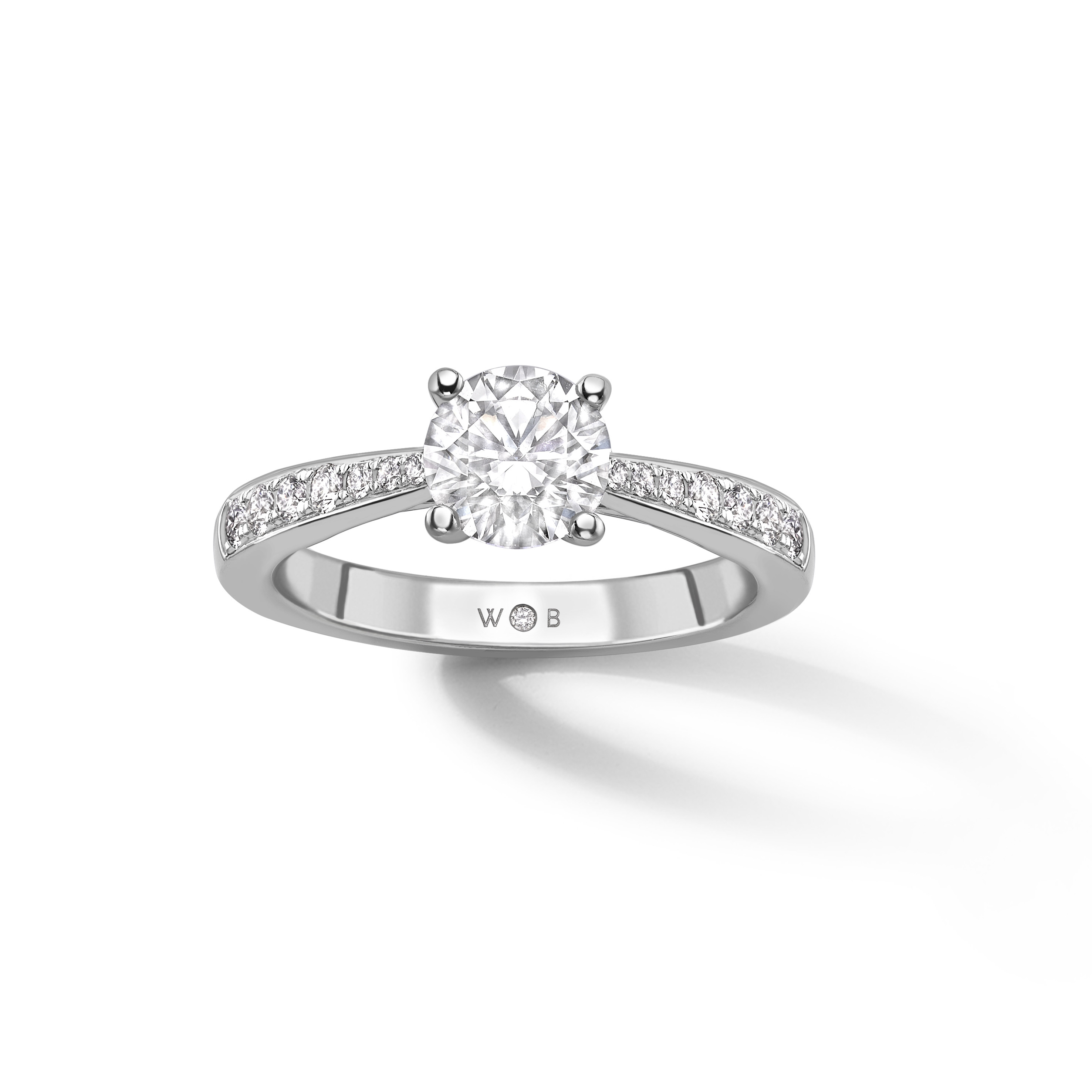 Brilliant Cut Diamond Solitaire Engagement Ring Within Brilliant Love Diamond Engagement Rings (View 9 of 25)