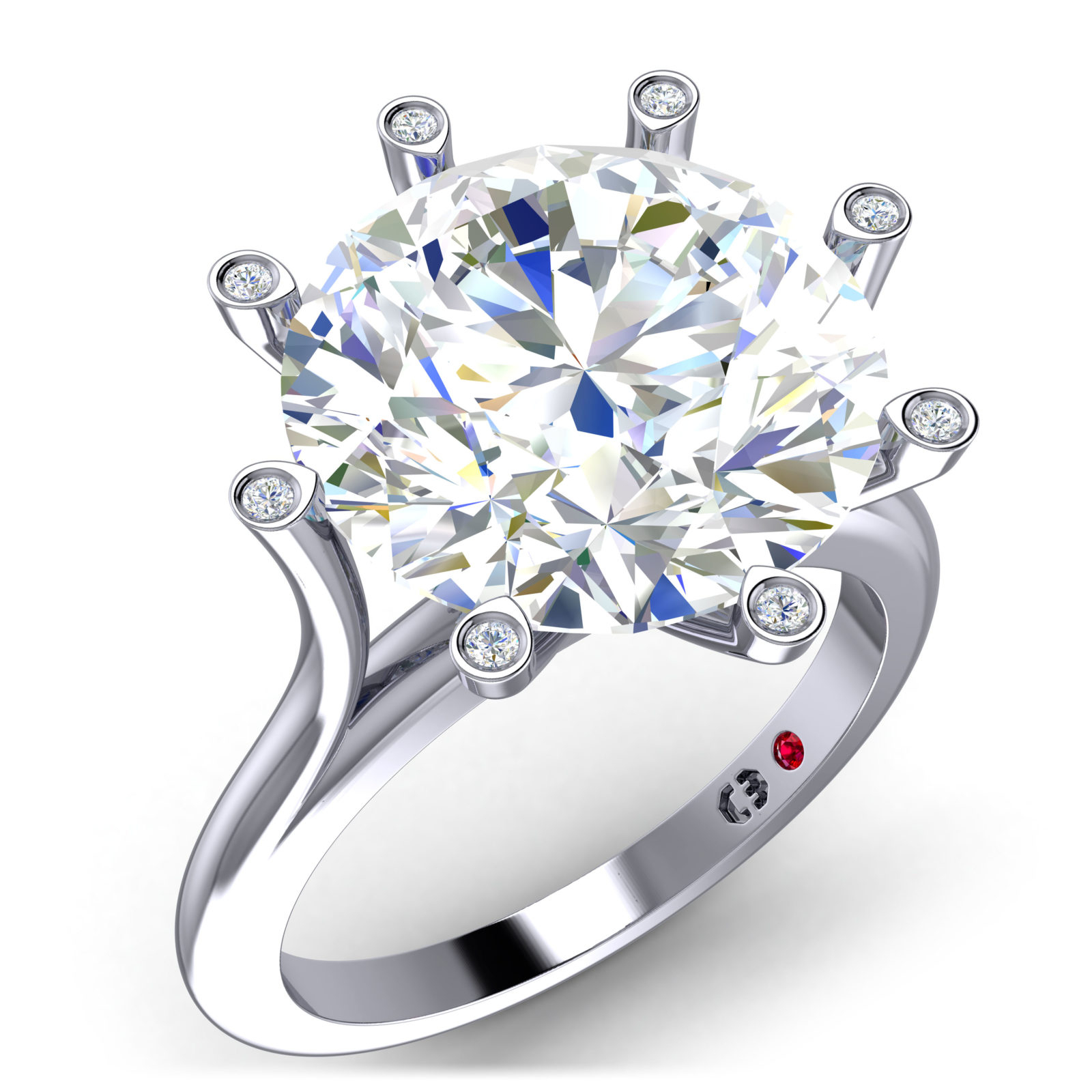 Brilliant Love Ring – Cassandra Mamone With Regard To Brilliant Love Diamond Engagement Rings (View 8 of 25)