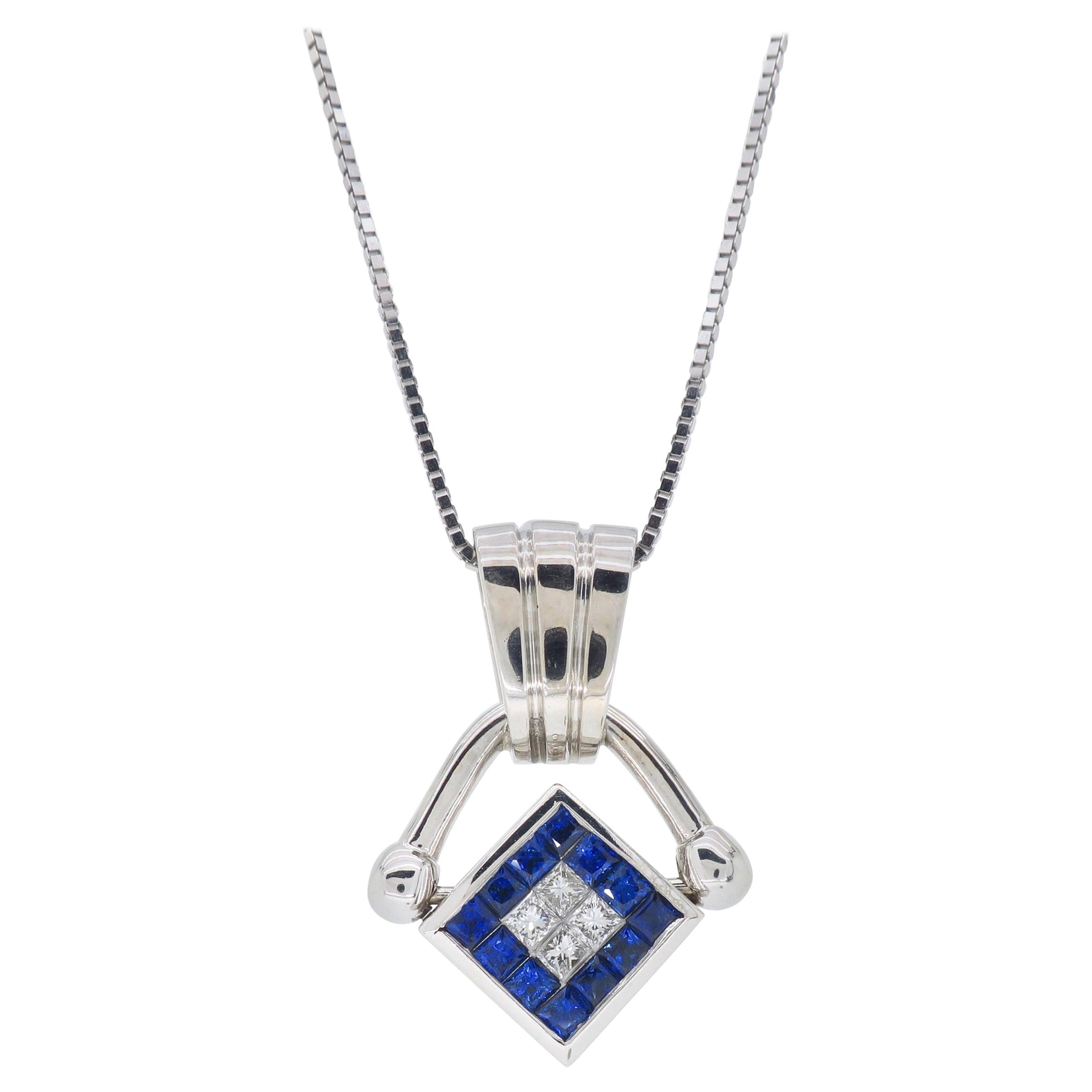 Buccellati Jade Pink And Blue Sapphire Pendant Necklace/pin Intended For 2019 Reversible Diamond, Sapphire And Aquamarine Pendant Necklaces (View 8 of 25)