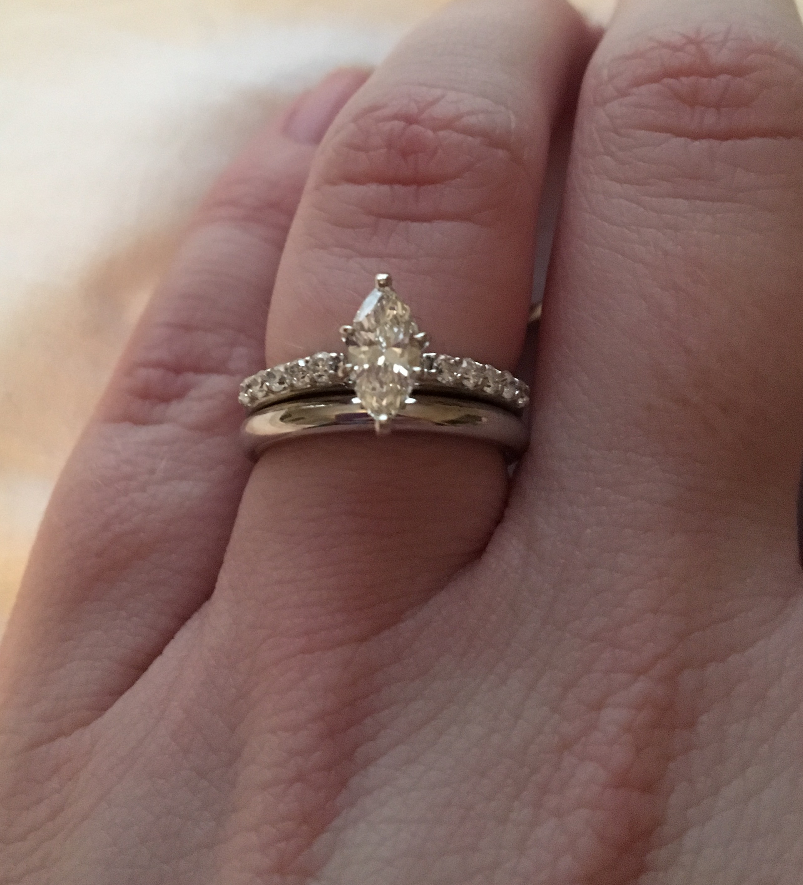Can I Please See Your Micropave E Rings Paired With Plain In Most Popular Full Micropavé Diamond Wedding Bands (View 8 of 25)