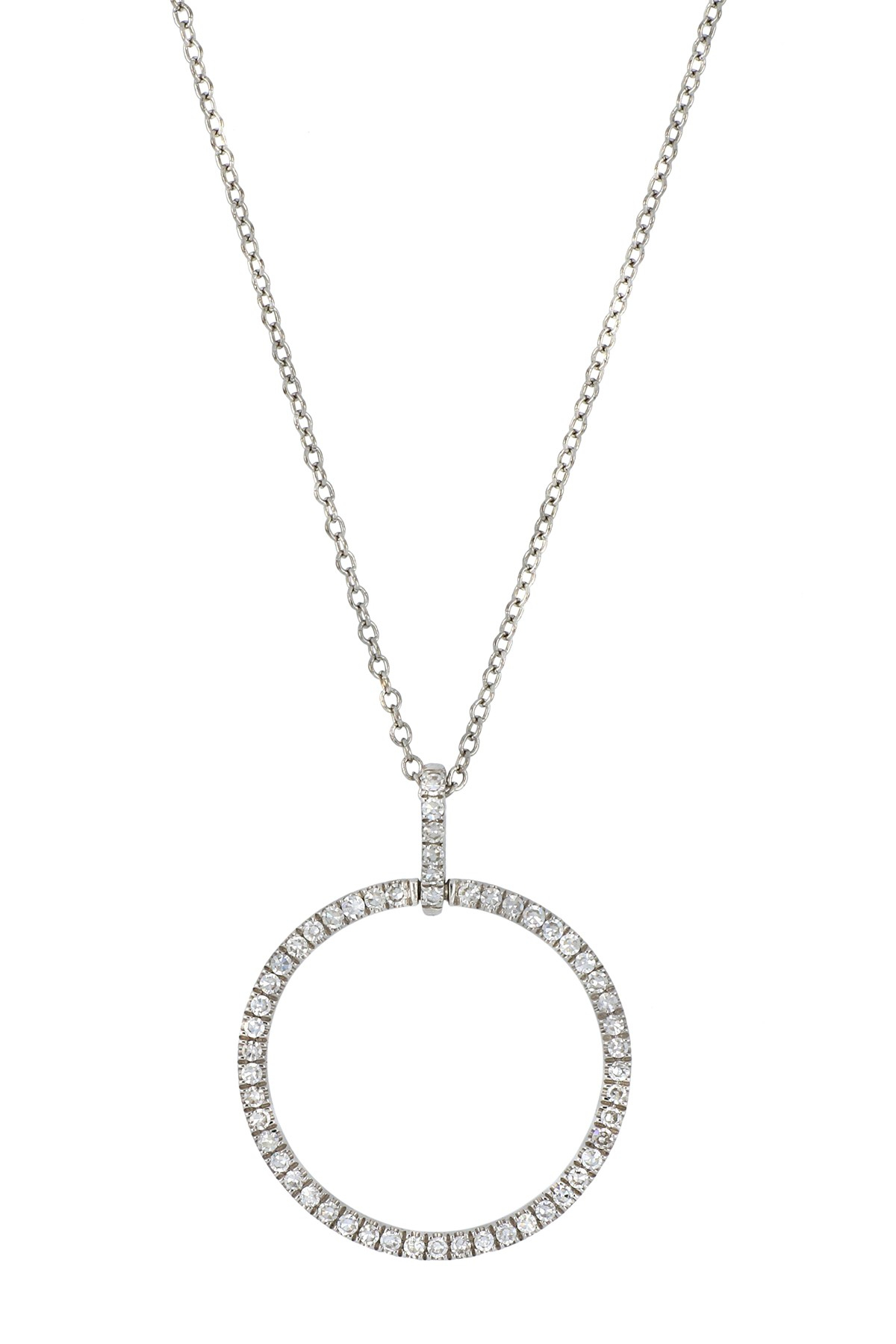 Carriere | Medium Diamond Circle Pendant Necklace (Nordstrom Exclusive) |  Nordstrom Rack With Most Recently Released Medium Diamond Necklaces (View 3 of 25)