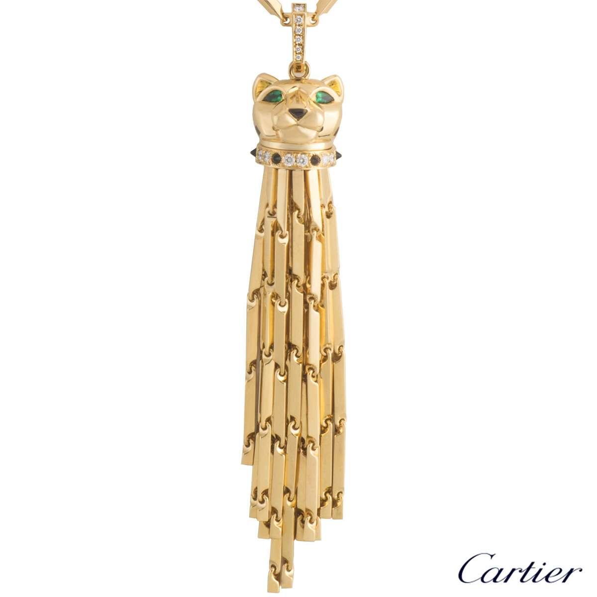 Cartier 18k Yellow Gold Panthere Sautoir Necklace N7051000 In Current Yellow Gold Diamond Sautoir Necklaces (View 15 of 25)
